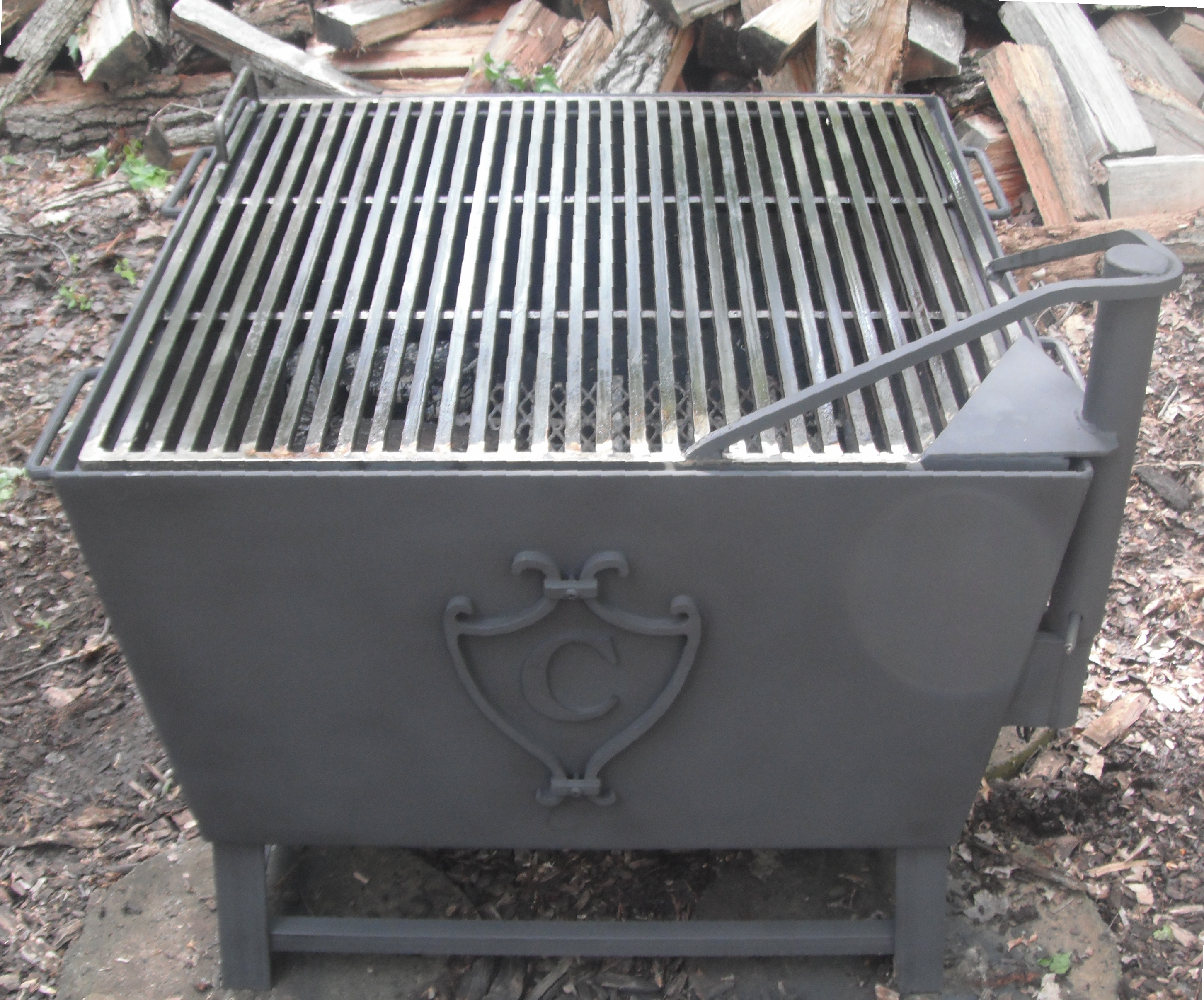 outdoor fire pits and fire grates