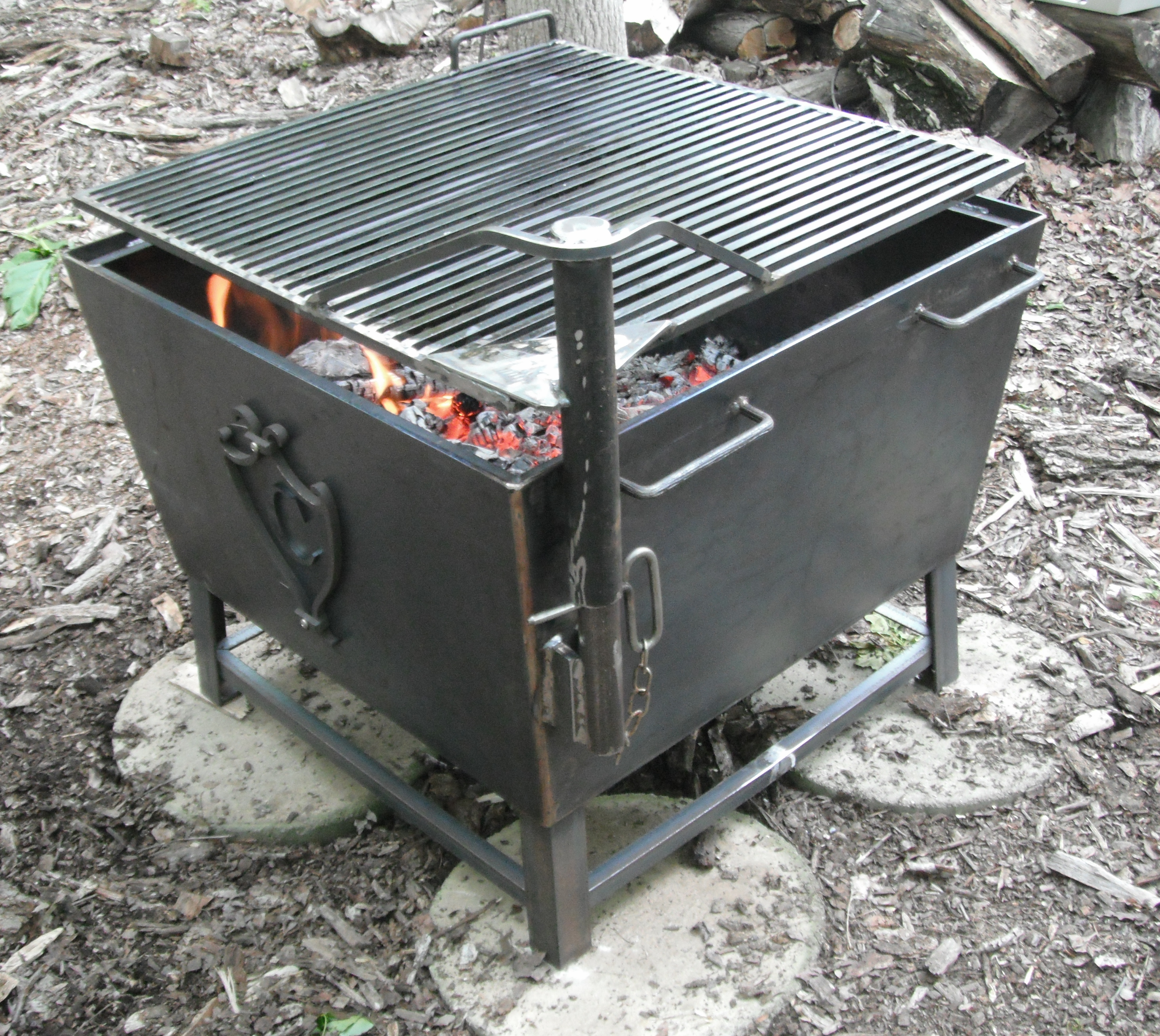 Custom Made to Any size Perfect for Outdoor Cooking or Backyard Fires Outdoor Fire Pits